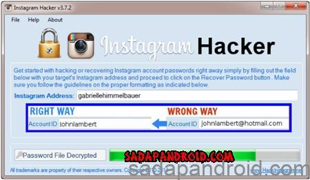 cara hack instagram