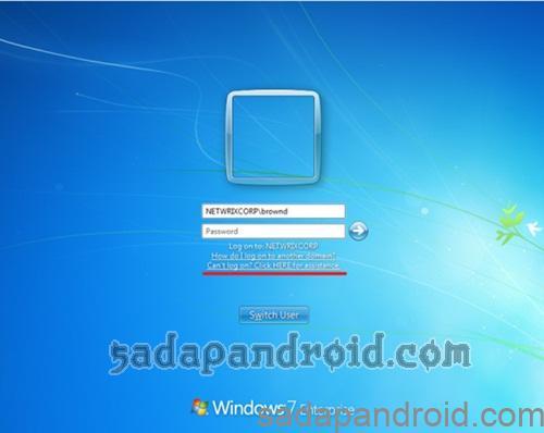 cara membuka password login di windows 7