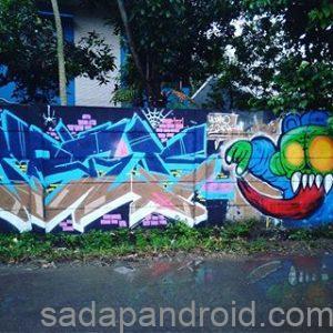 gambar grafiti tulisan di tembok