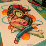 50+ Kumpulan Gambar DP BBM Grafiti Monster Sketch Keren