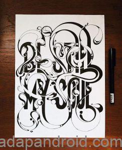 gambar tulisan grafiti di kertas