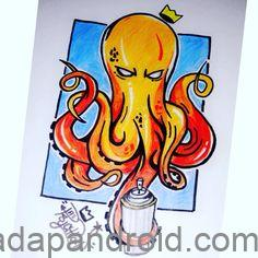 gambar monster laut grafiti