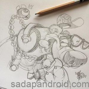 50 Kumpulan Gambar Dp Bbm Grafiti Monster Sketch Keren Sadap Android