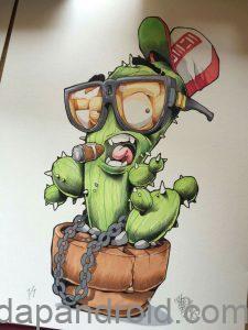 dp bbm gambar monster kaktus