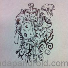 gambar sketsa grafiti
