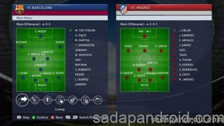 formasi pes 2017 terbaik barcelona vs as atletico madrid