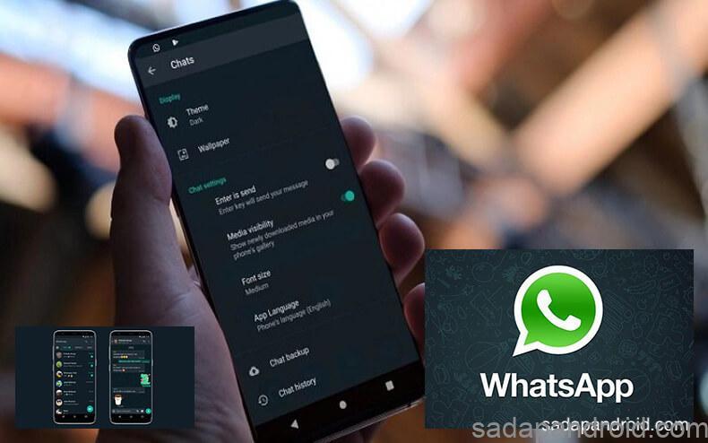 mengaktifkan dark mode di whatsapp