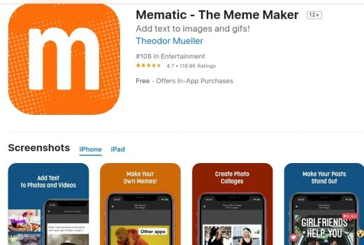 Meme Maker App (iOS)