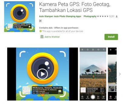 Kamera Peta GPS